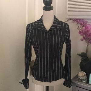 Forever 21 business striped blouse